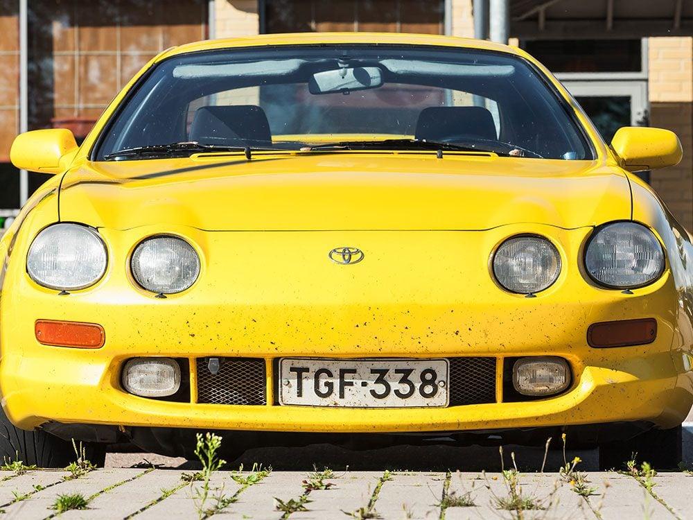 La voiture Toyota Supra de 1994.