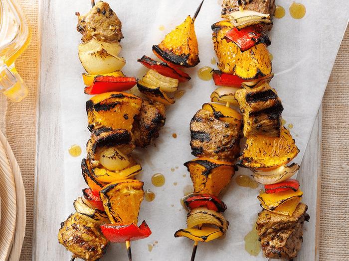 Brochettes de porc au curry et à l'orange (galerie barbecue)