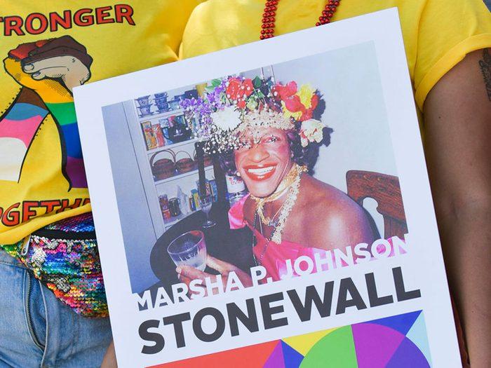 Marsha P. Johnson fait partie des héros de la communauté LGBTQ+.