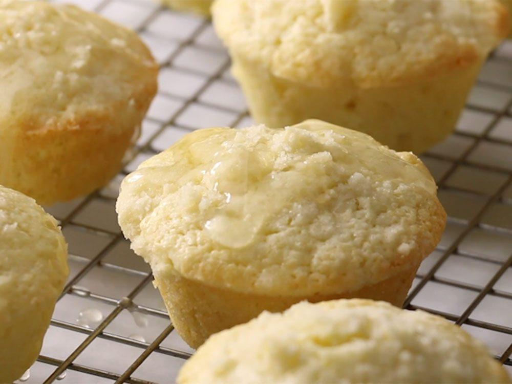 Muffins au citron façon crumble.