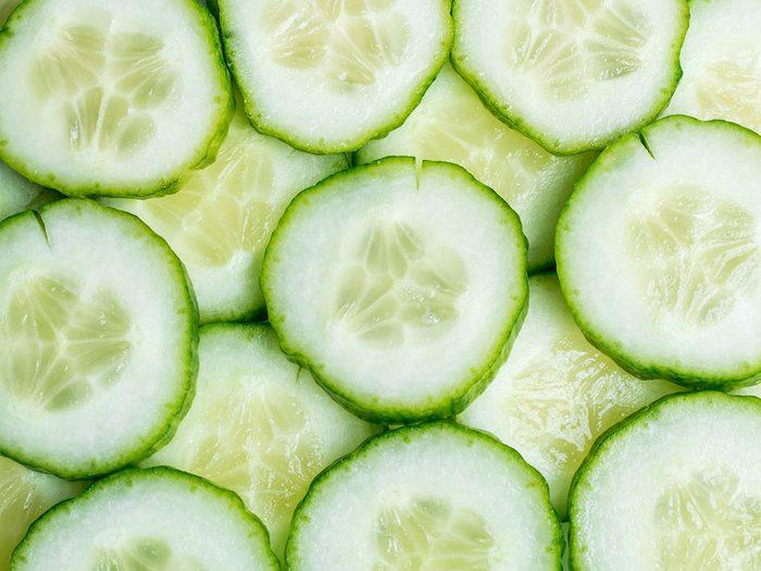 Le concombre est l'un des aliments pour s'hydrater.