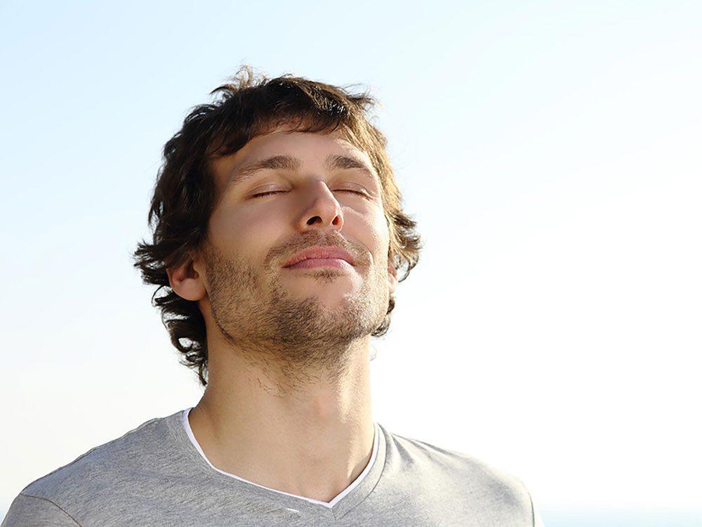 Respirez profondément pour arrêter de stresser.