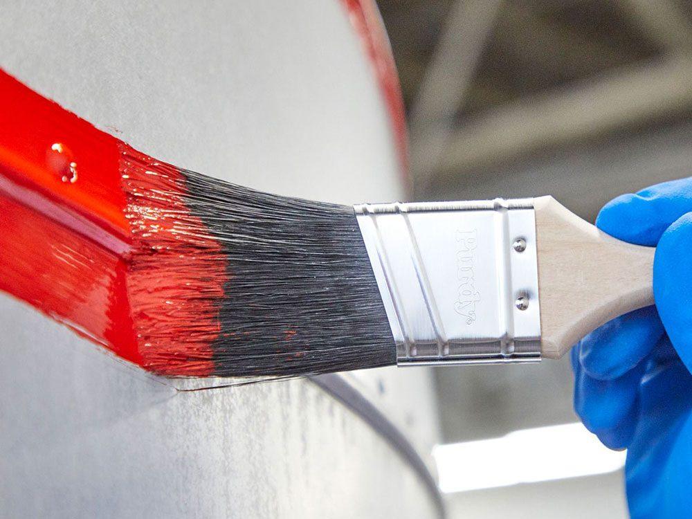 La peinture de la caravane rétro.