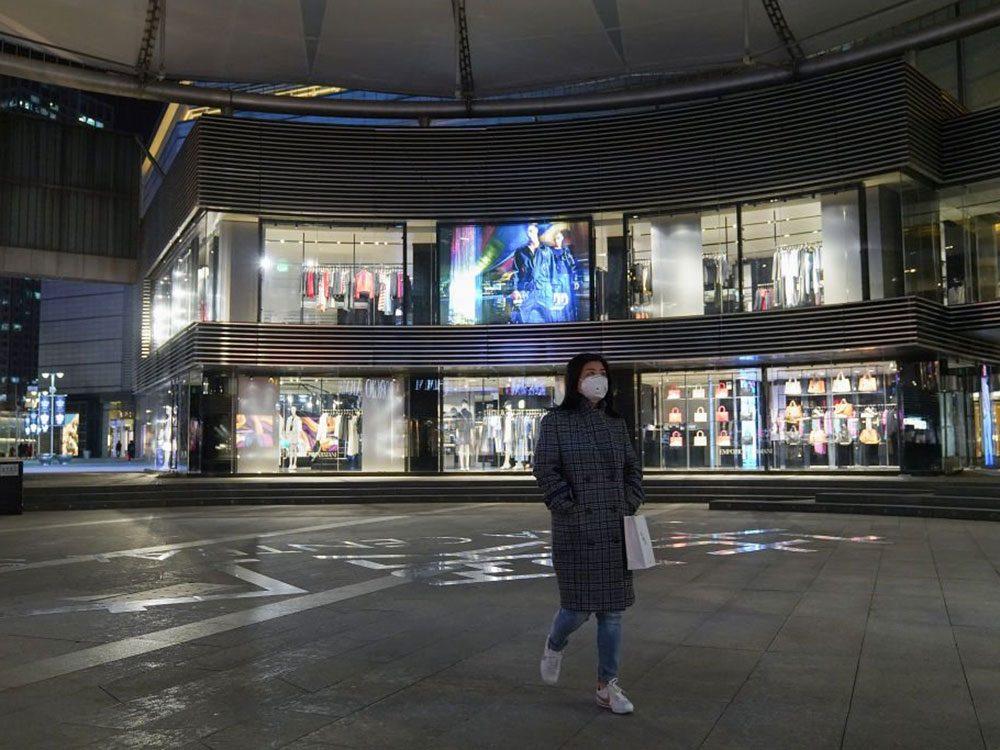 Ce centre commercial abandonné de Pékin est fermé à la foule.
