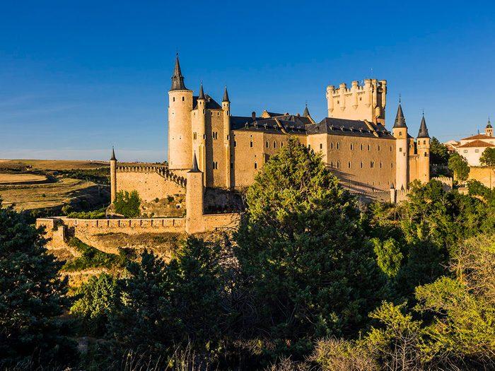 Châteaux: Alcazar de Ségovie, Espagne.