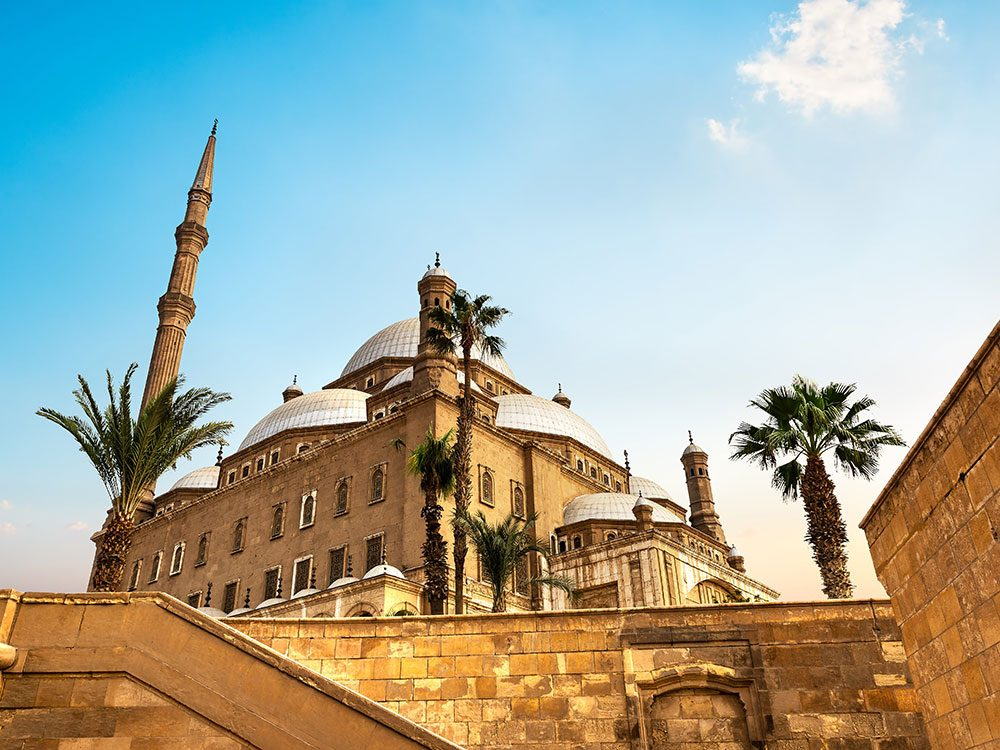 Châteaux: la Citadelle du Caire en Égypte.
