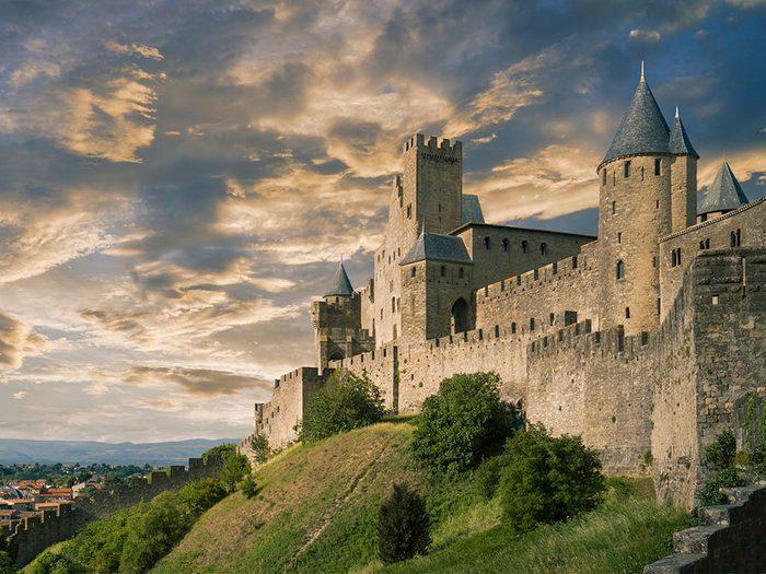 Châteaux: la Citadelle de Carcassonne en France.