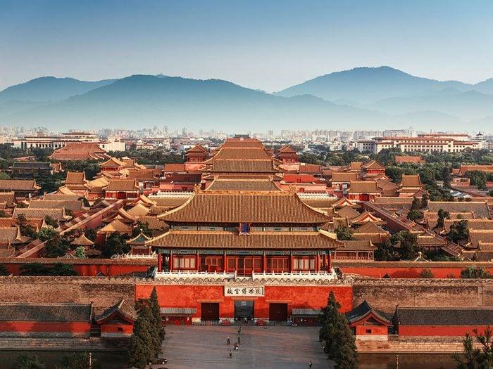 Châteaux: la Cité interdite en Chine.