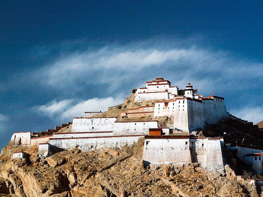 Châteaux: Gyantse Dzong au Tibet.
