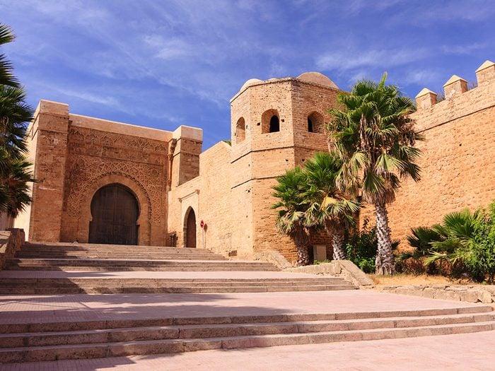 Kasbah des Oudayas, Maroc.