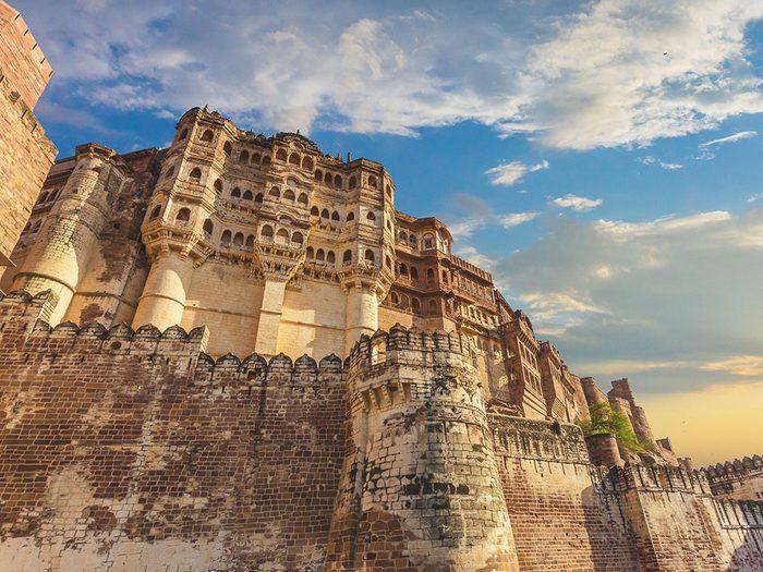 Châteaux: le fort de Mehrangarh, Inde.