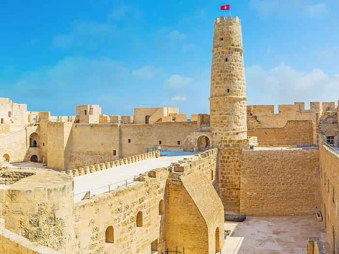 Châteaux: Ribat de Monastir en Tunisie.