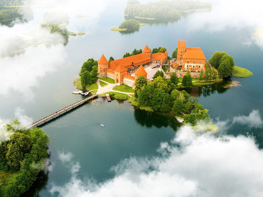 Château de l'île de Trakai, Lituanie.