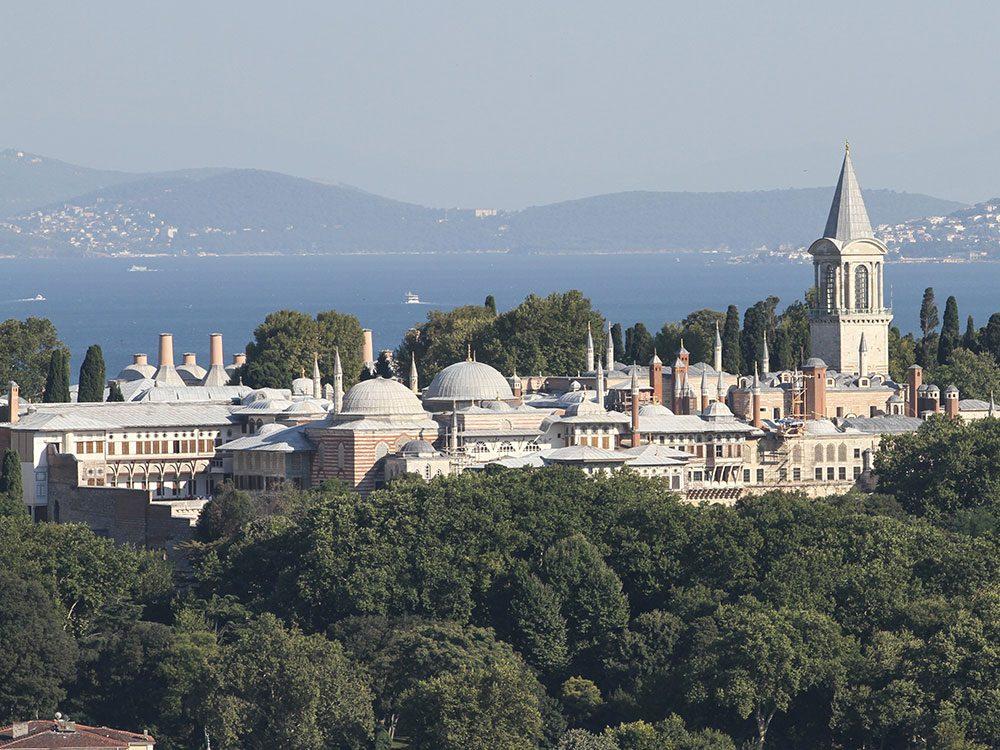 Châteaux: le palais de Topkapi, Turquie.