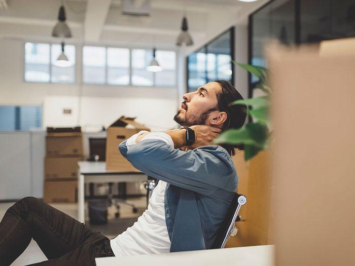 Être stressé peut être l'une des causes de votre déshydratation.