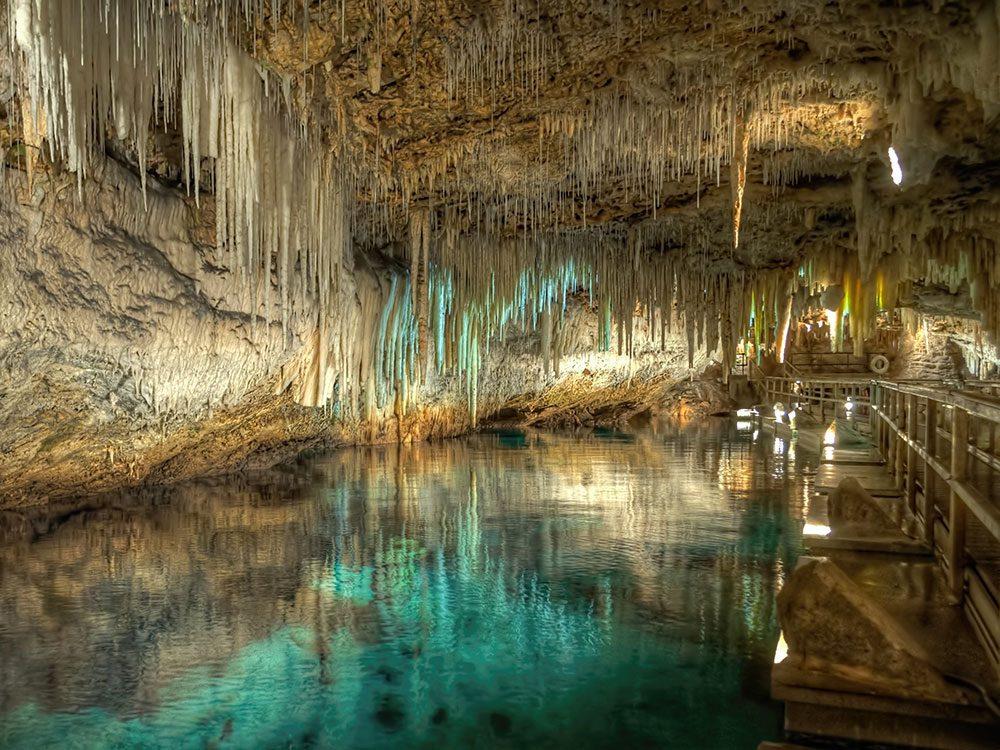 Les grottes de cristal.