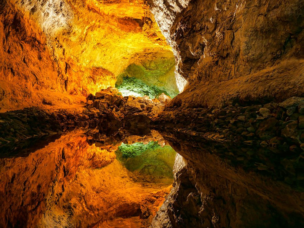 La grotte Cueva de los Verdes.