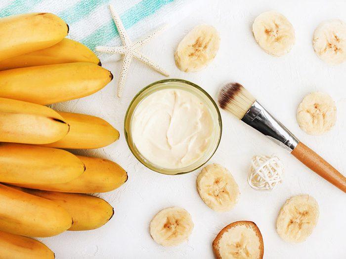 Un masque visage maison à la banane.