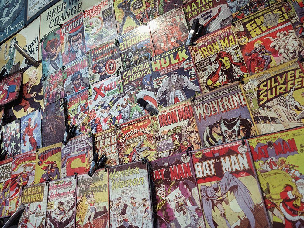 Les bandes dessinées sont des objets vintages.