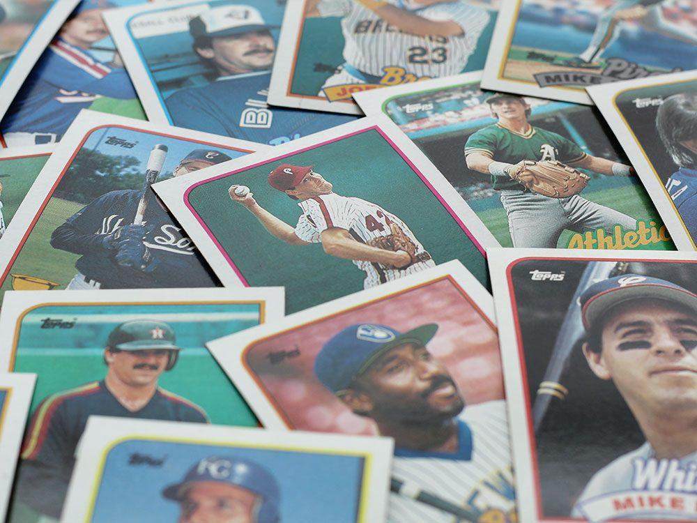 Les cartes à collectionner sont des objets vintages.