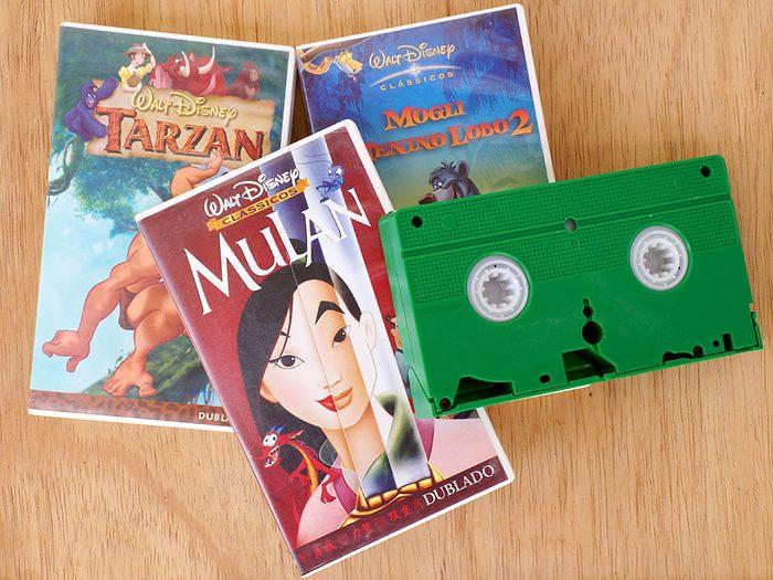 Les films VHS sont des objets vintages.