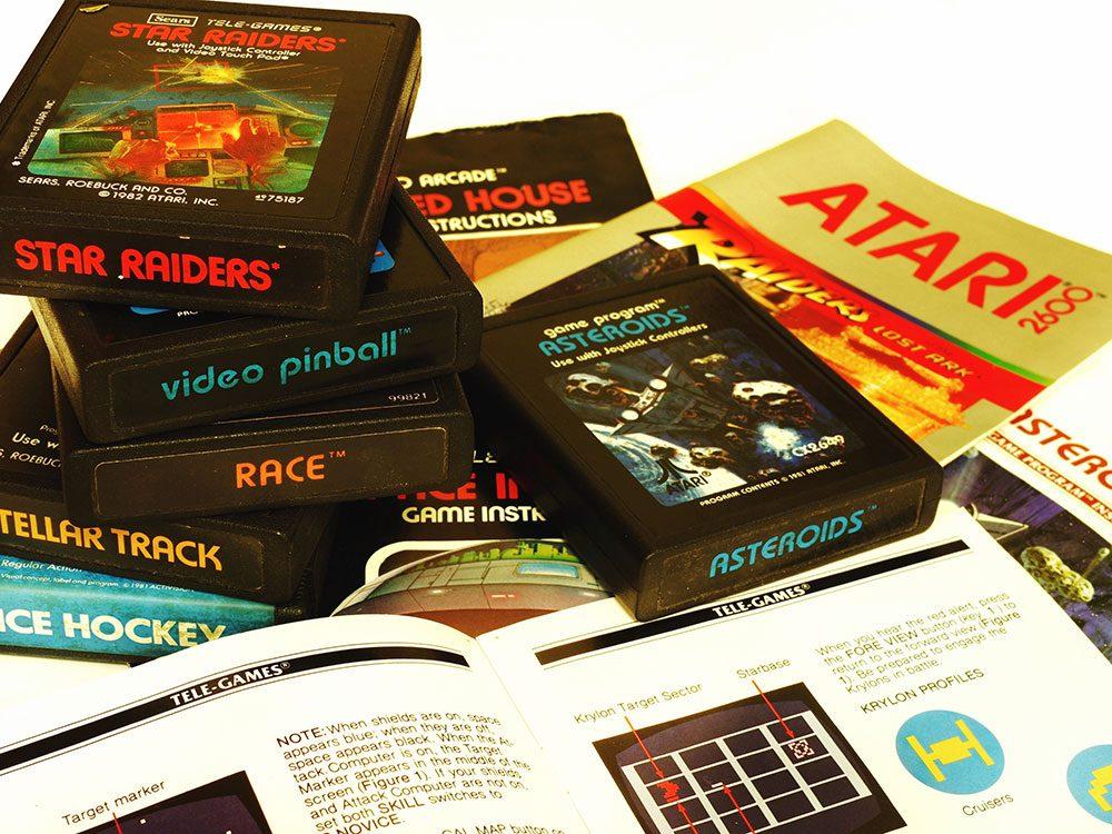 Les consoles et jeux vidéo sont des objets vintages.