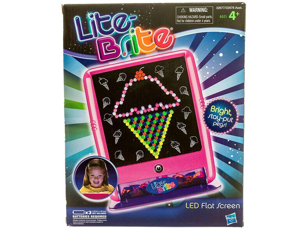 Les jeux Lite Brite et Magic Light sont des objets vintages.