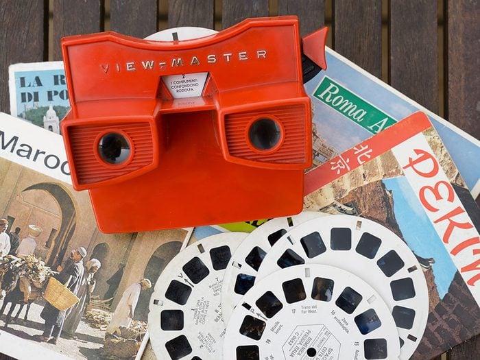 Le masque View Master fait partie des objets vintages.