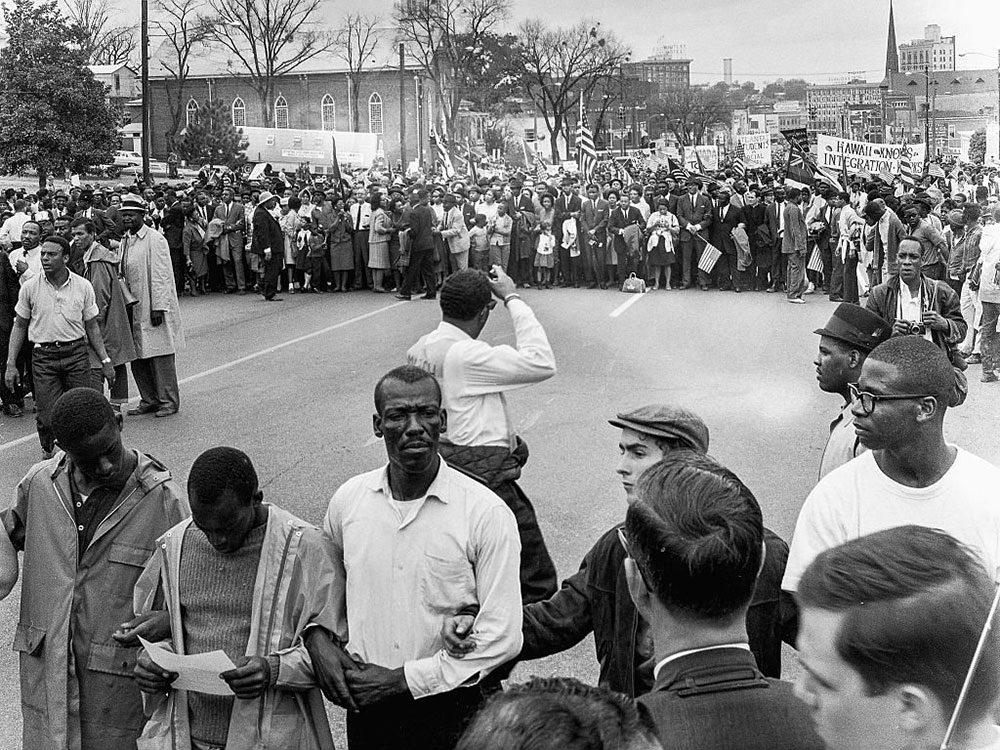 Une photo d'époque de la Marche de Selma à Montgomery.