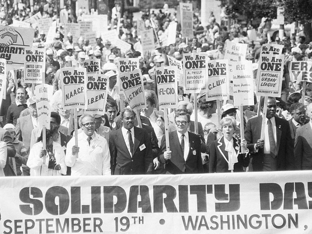 Une photo d'époque de la Journée de la solidarité.