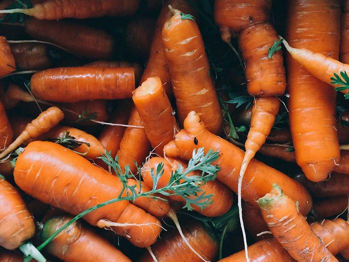 Les petites carottes font partie des légumes qui poussent en un temps record dans le potager!
