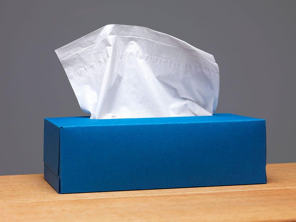 Les boîtes à mouchoirs sont réutilisables.