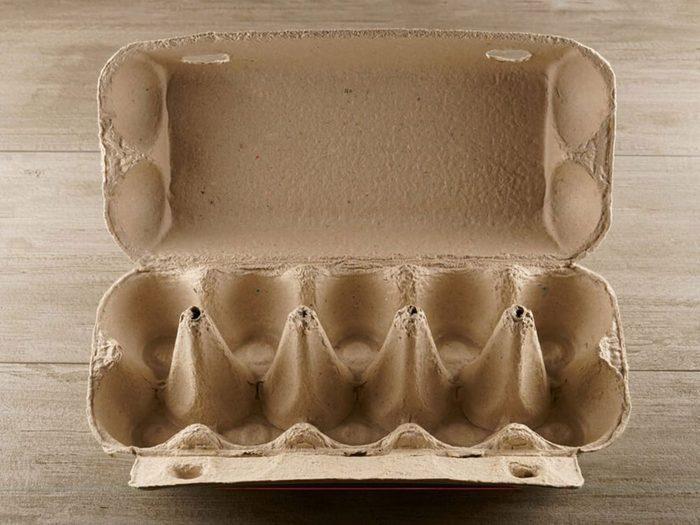 Les cartons d'œufs sont réutilisables.