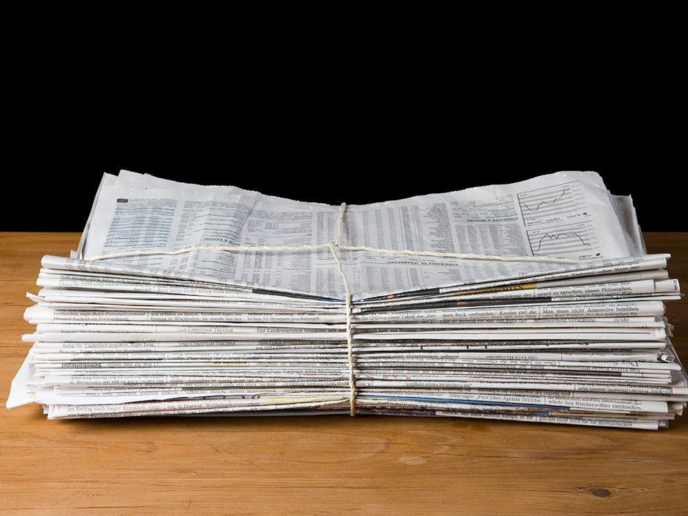 Les journaux sont réutilisables.