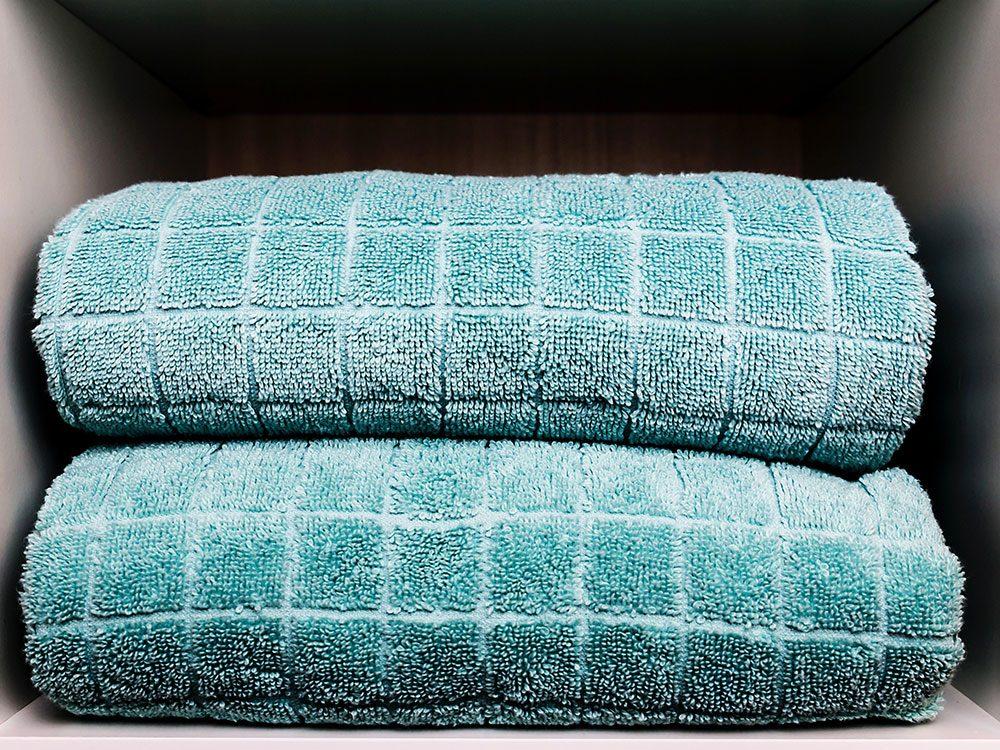 Les vieilles serviettes sont réutilisables.