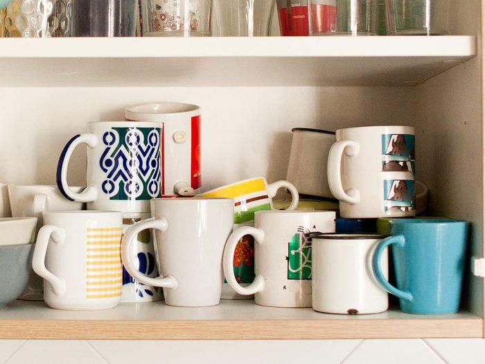 Les tasses à café sont réutilisables.