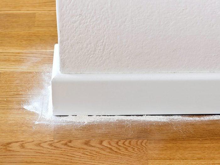Utiliser de la poudre pour bébé dans les points chauds pour se débarrasser des fourmis.
