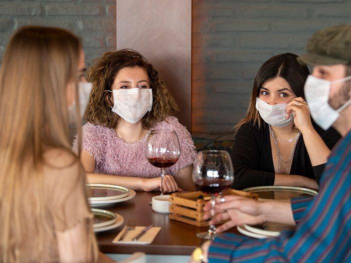 Ne venez pas en grand groupe pour éviter la transmission de virus.