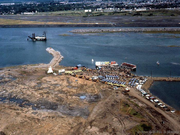 Québec d'autrefois: l'inauguration des travaux de l'Expo 67, 12 août 1963.