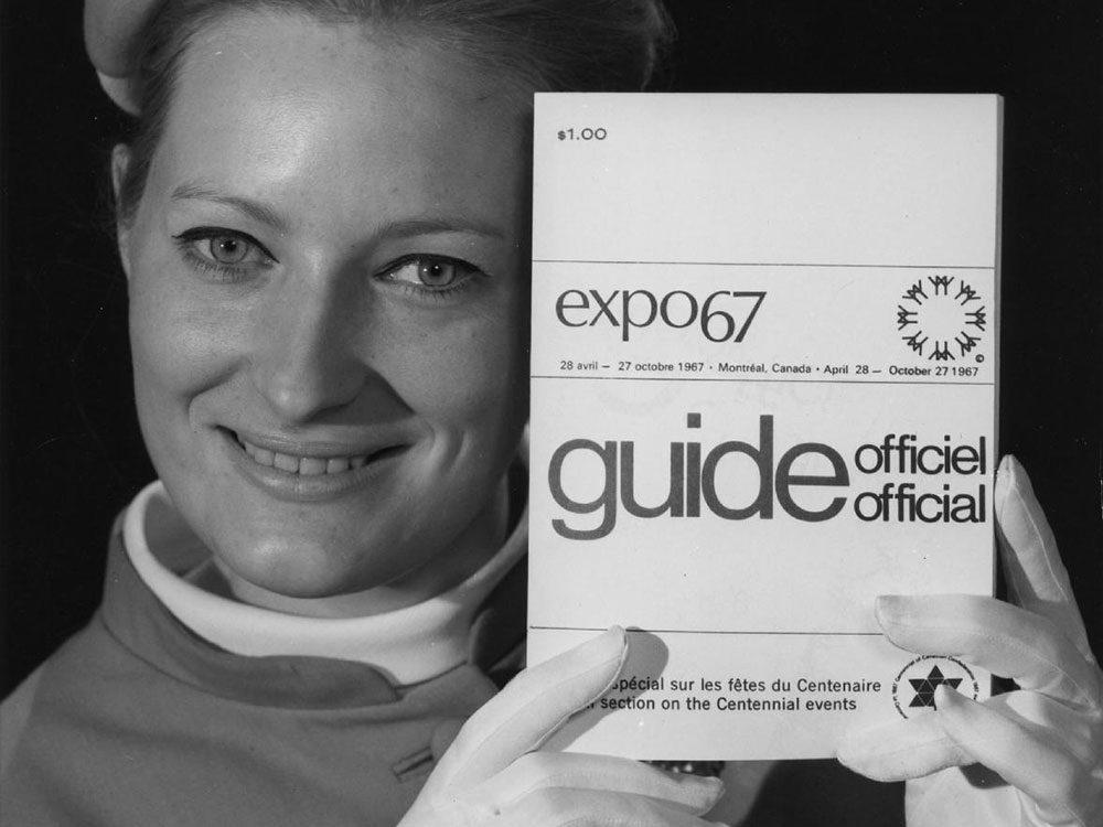Québec d'autrefois: une hôtesse de l'Expo 67, 1967.