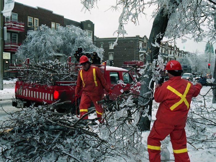 Québec d'autrefois: la crise du verglas, janvier 1998.