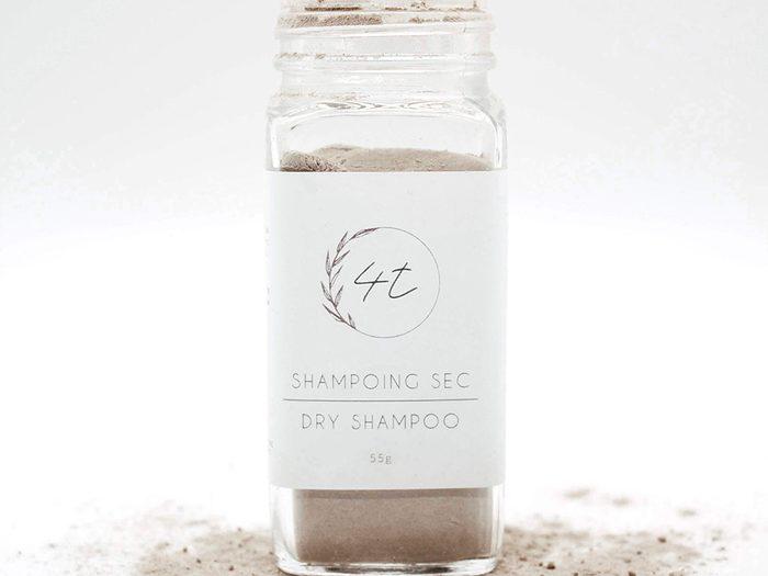 Le shampoing sec de l'entreprise québécois 4T.