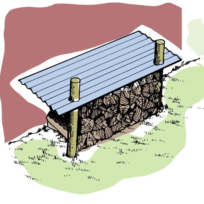 Astuces de bricolage: faire un abri pour bois de chauffage.