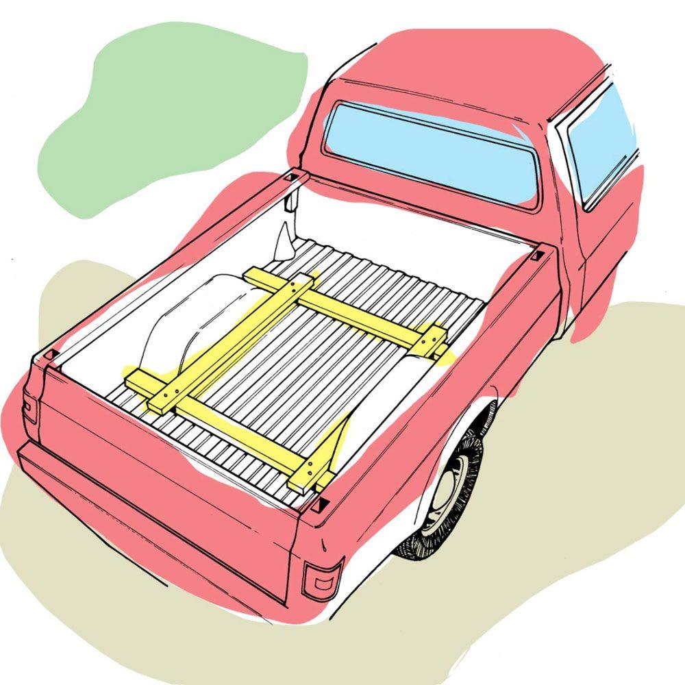 Astuces de bricolage: faire un porte-bagages pour camionnette.