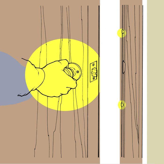 Astuces de bricolage: comment empêcher les claquements de portes.
