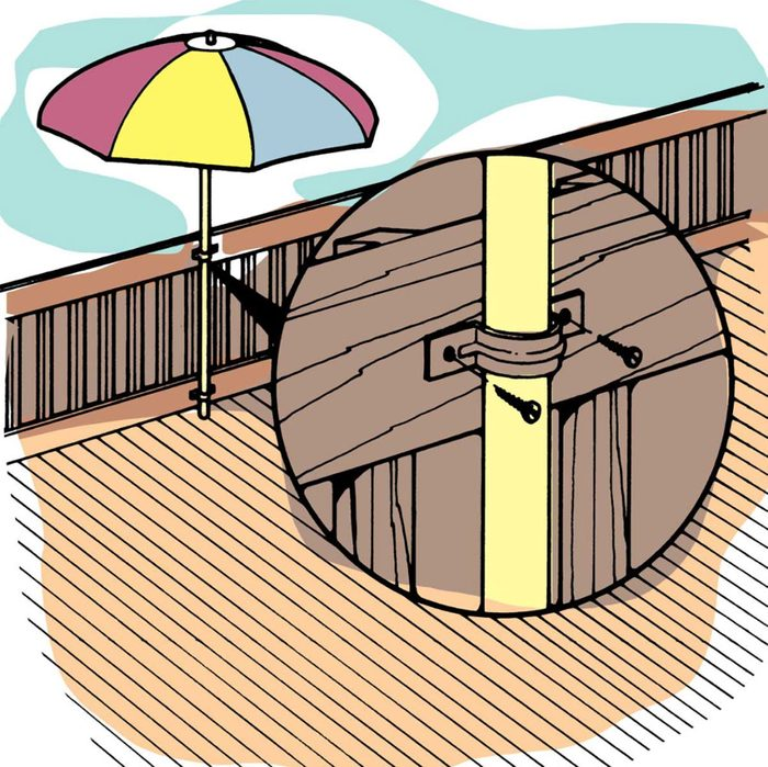 Astuces de bricolage: des fixations à parasols.