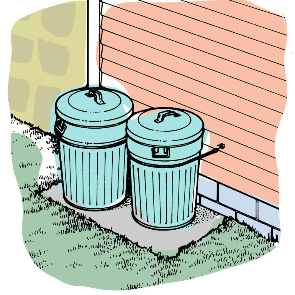 Astuces de bricolage: pour des poubelles qui ne partent pas au vent.