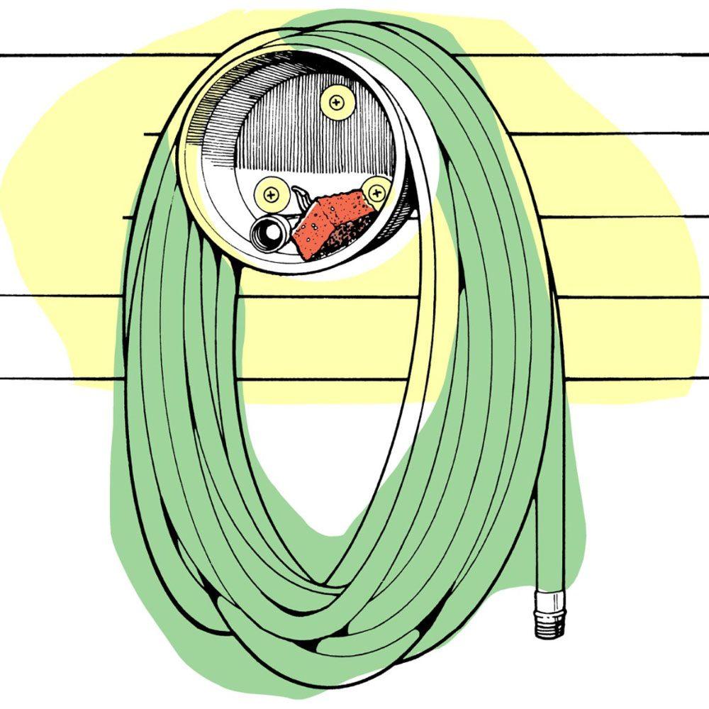 Astuces de bricolage: faire un support à tuyau d'arrosage.
