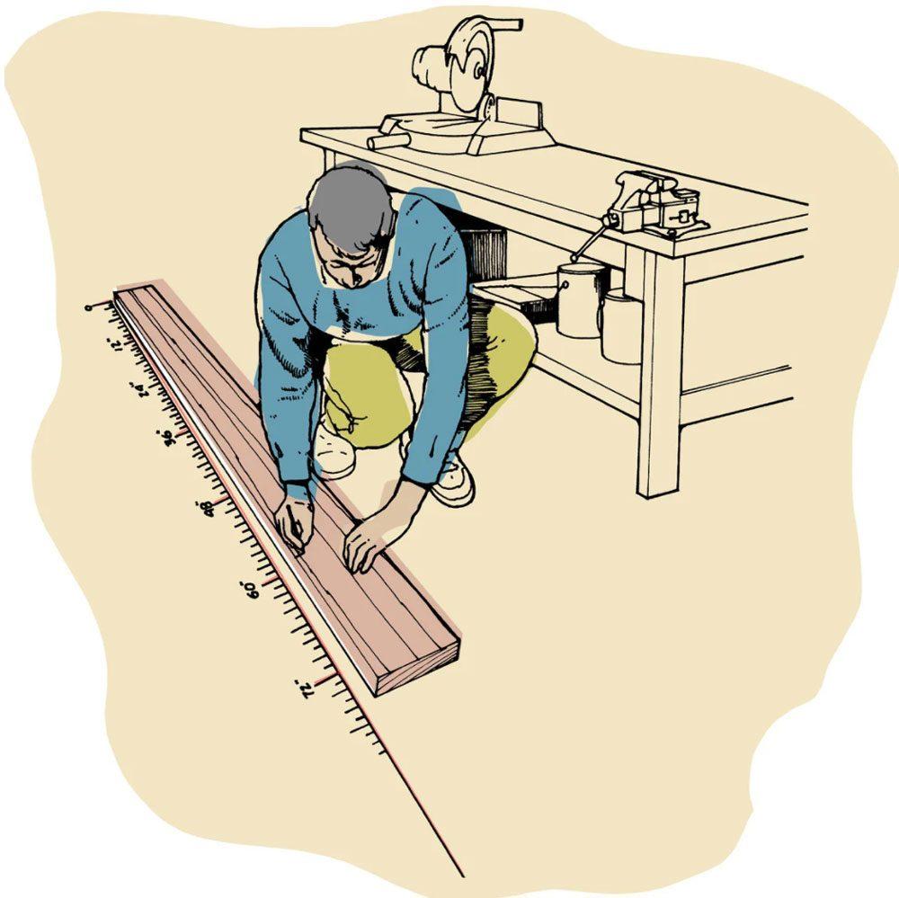 Astuces de bricolage: une règle à mesurer de grand format.