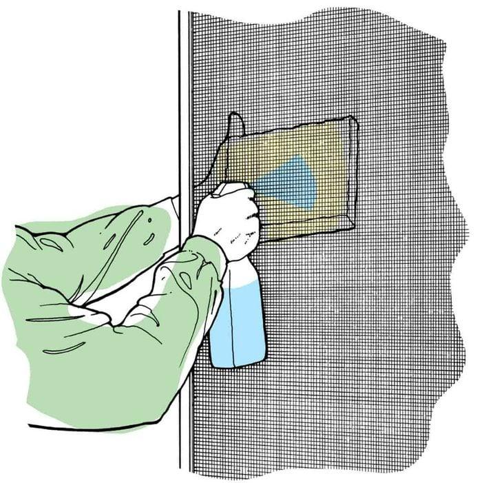 Astuces de bricolage: comment nettoyer les moustiquaires.
